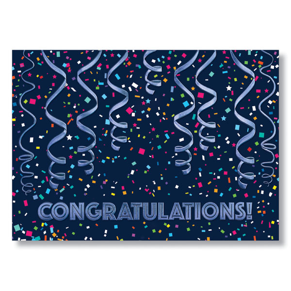 Picture of Festive Congrats Card W/Envelope