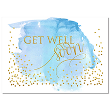 Water Color Get Well Card