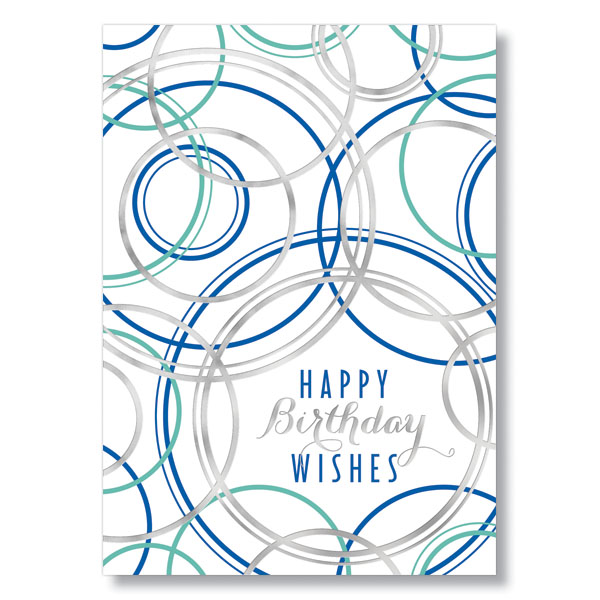 Picture of Circle Birthday Wishes Card