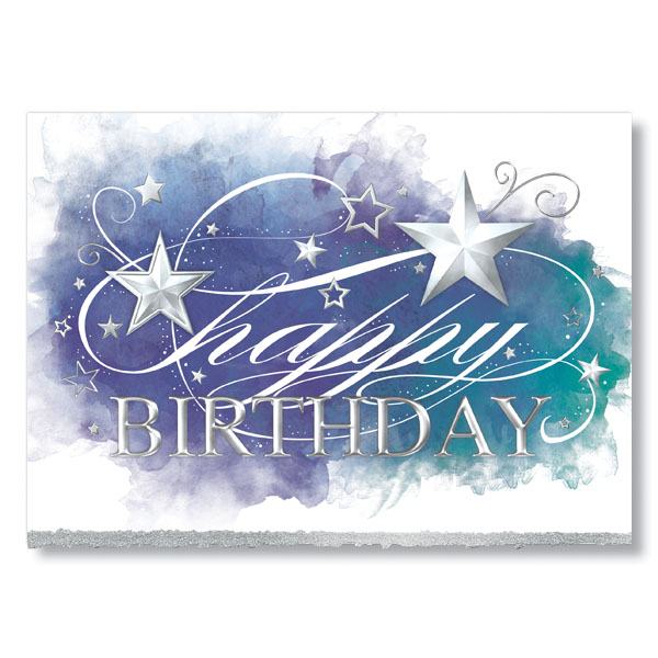Birthday Stars Card Card