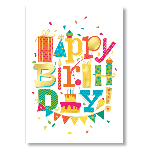 Fun Birthday Font Card
