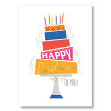 Tilted Birthday Cake Card