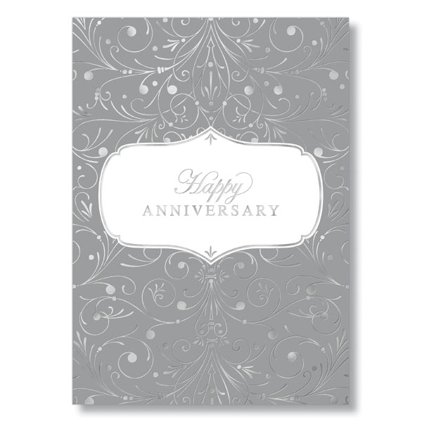 Silver Anniversary Pattern Card