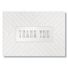 Silver Foil Thank You Card w/Envelope