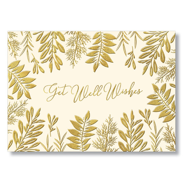 Get Well Sprigs Card w/Envelope