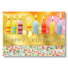 Cake With Candles Birthday Card