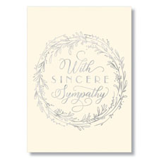 Picture of Wreath of Sympathy Card