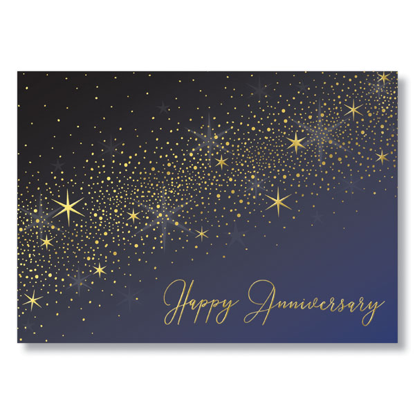 Picture of Stardust Anniversary Card
