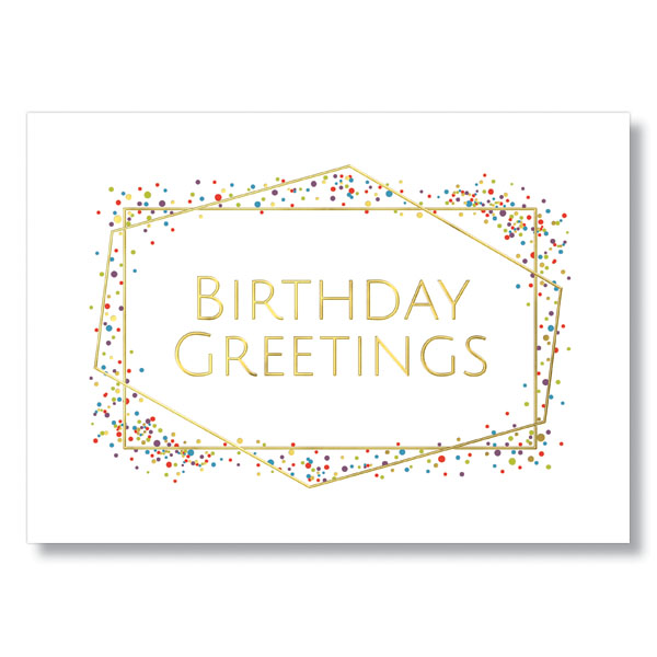 Picture of Geometric Birthday Card