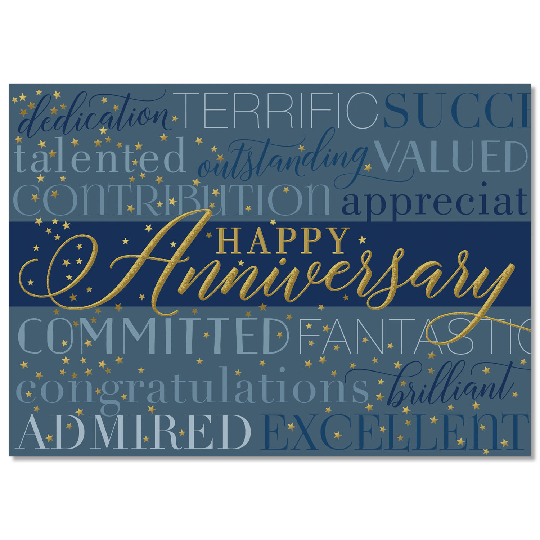 Anniversary Characteristics Card