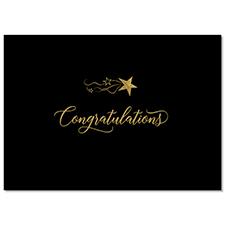 Gold Star Congrats Card