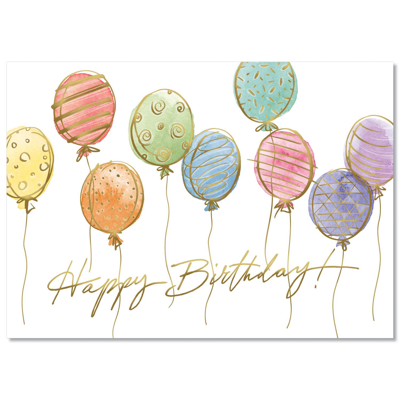 Colorful Balloon Sketches Card
