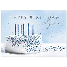 Birthday in Blue Card