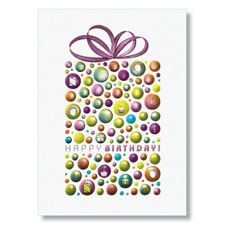 Metallic Surprises Birthday Card