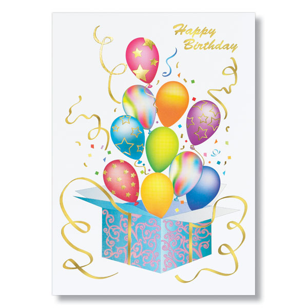 Bursting Balloons Birthday Card