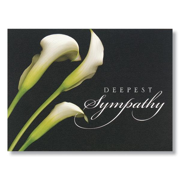 Calla Lilies Deepest Sympathy Card