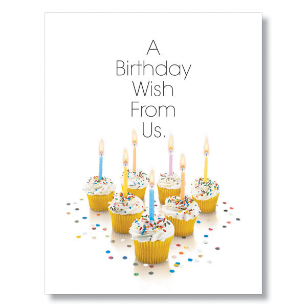 Birthday Cupcakes Team Birthday Card