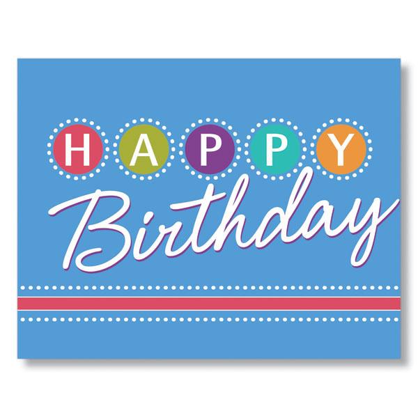 Birthday Lights Birthday Card