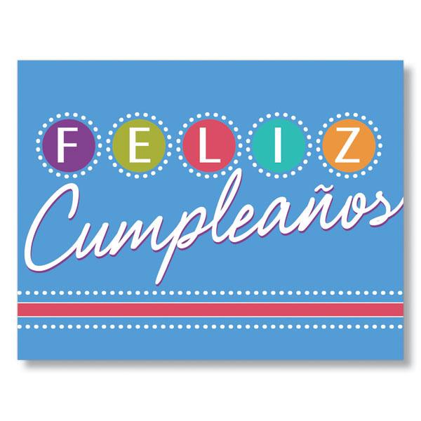 Birthday Lights Spanish Birthday Card