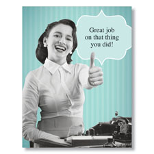 Humorous Co-Worker Great Job! Card