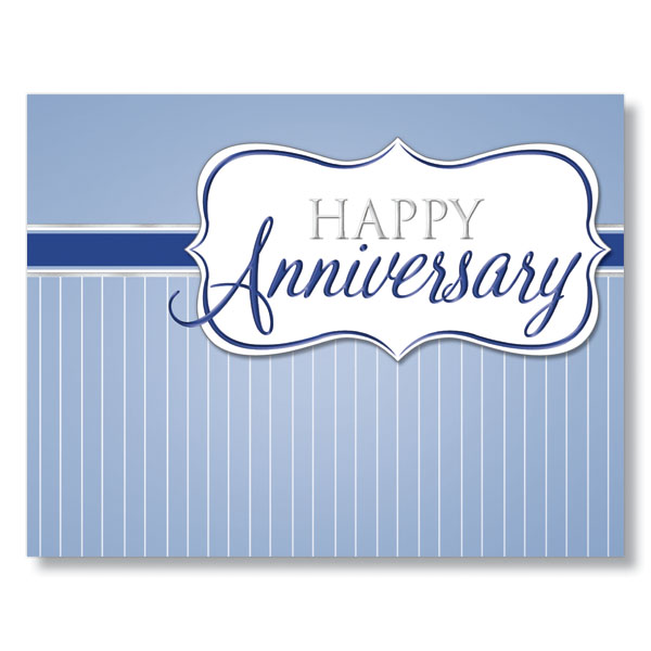 Classic Happy Anniversary Card