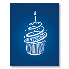 Modern Cupcake Birthday Card