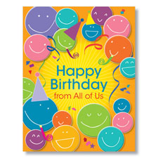 Happy Birthday Faces Birthday Card