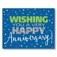 Picture of PY Anniversary Sparkle Card