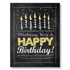 Chalkboard Birthday Cake Card