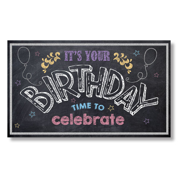 Picture of Chalkboard Birthday Celebration Card