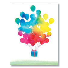 Watercolor Balloons Card