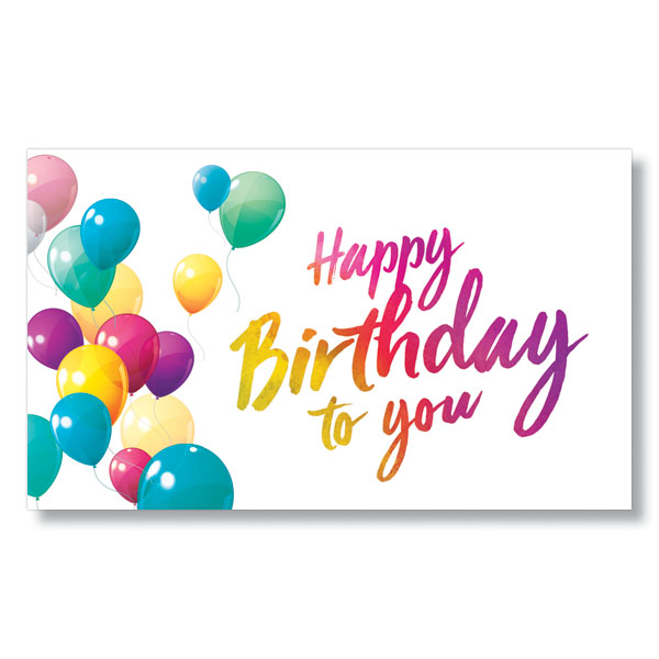 Floating Birthday Balloons Card