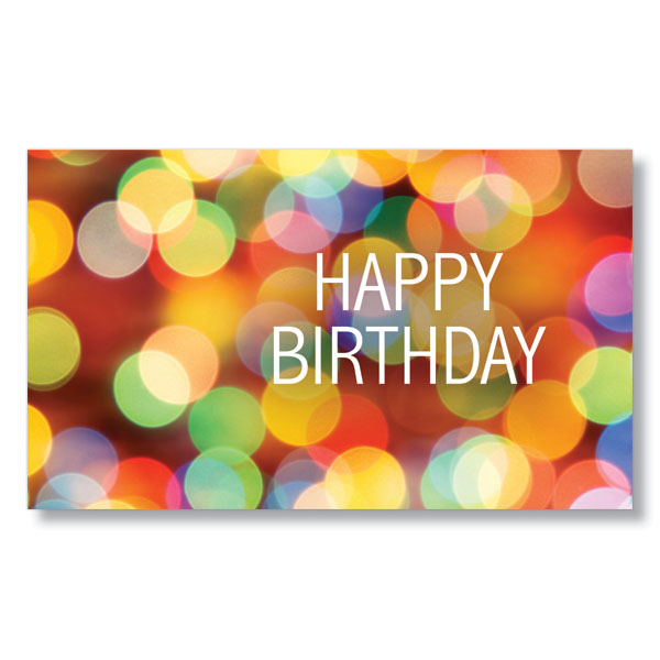 Twinkling Happy Birthday Card