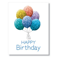 Picture of PY Glitter Balloons Card