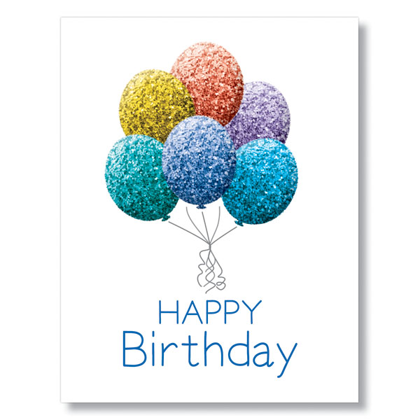 Glitter Balloons Card