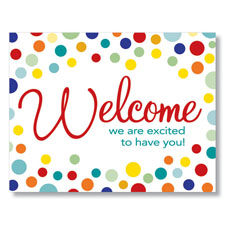Welcome Dots Card