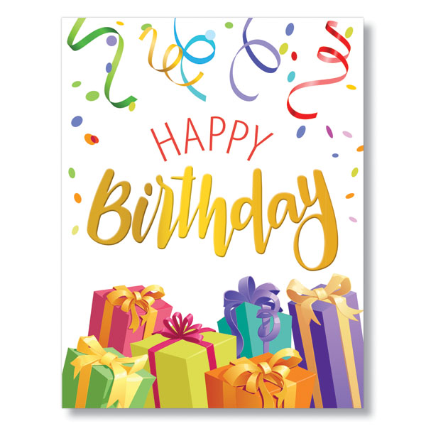 Picture of Presents and Confetti Birthday Card
