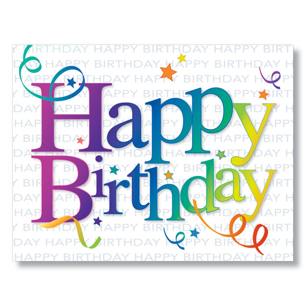 Picture of Rainbow Birthday Card