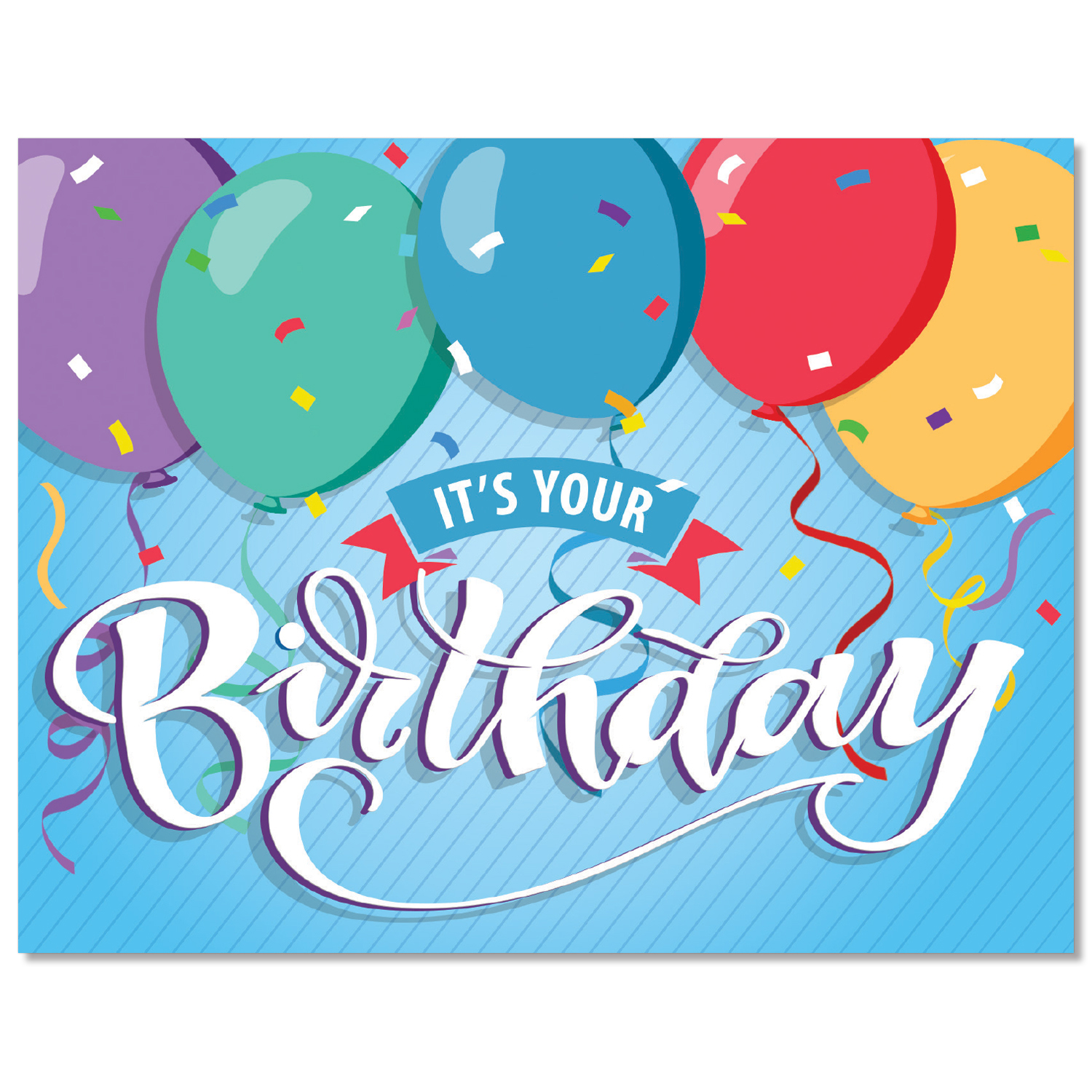 It's Your Birthday Balloons Card