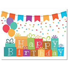 Happy Birthday on Gifts Card
