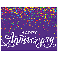 Colorful Sprinkles Anniversary Card