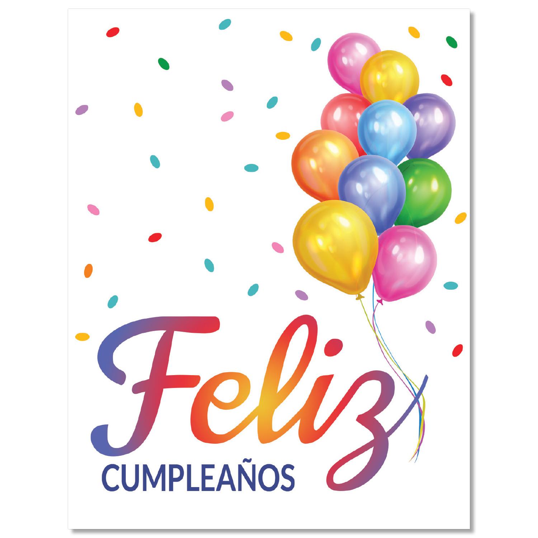Big Happy Birthday Spanish Card