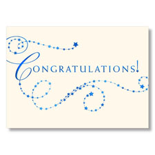 Starry Congratulations! Card
