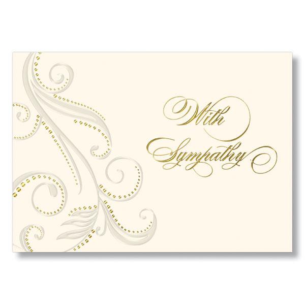 Plume Sympathy Card