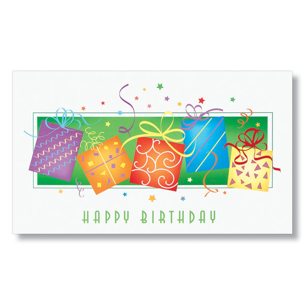Prancing Presents Birthday Card