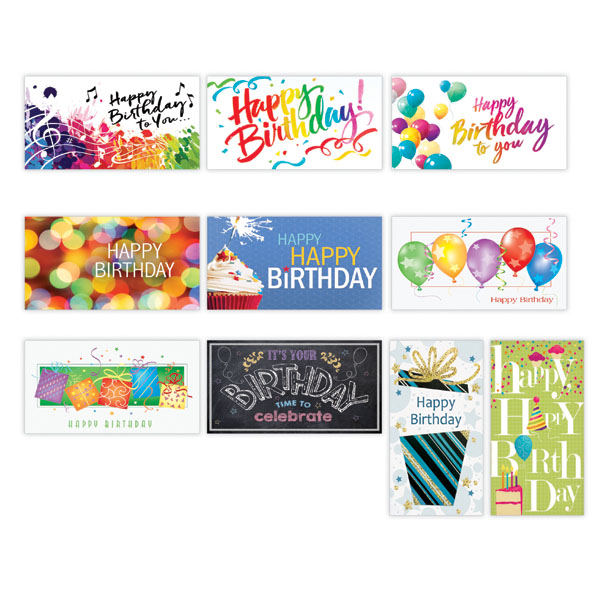 Personalized Festive Birthday Card Assortment