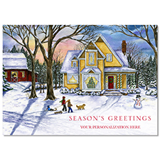 Winter House Holiday Card
