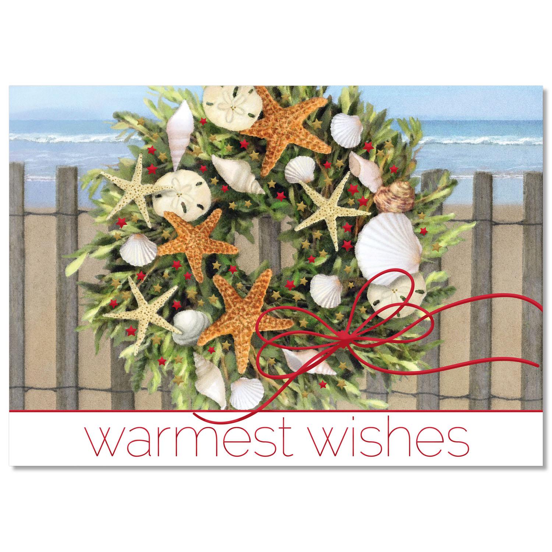 Warm Weather Wreath Holiday Card