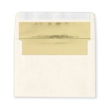 Fastick Ivory Gold-Lined Extra Envelopes