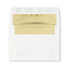Fastick White Gold-Lined Envelopes
